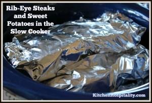 Slow cooker ribeye steak