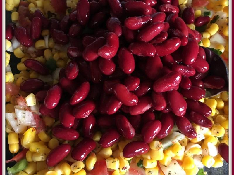 Kidney Bean & Corn Mediterranean Summer Salad