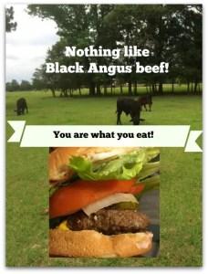Black Angus hamburger