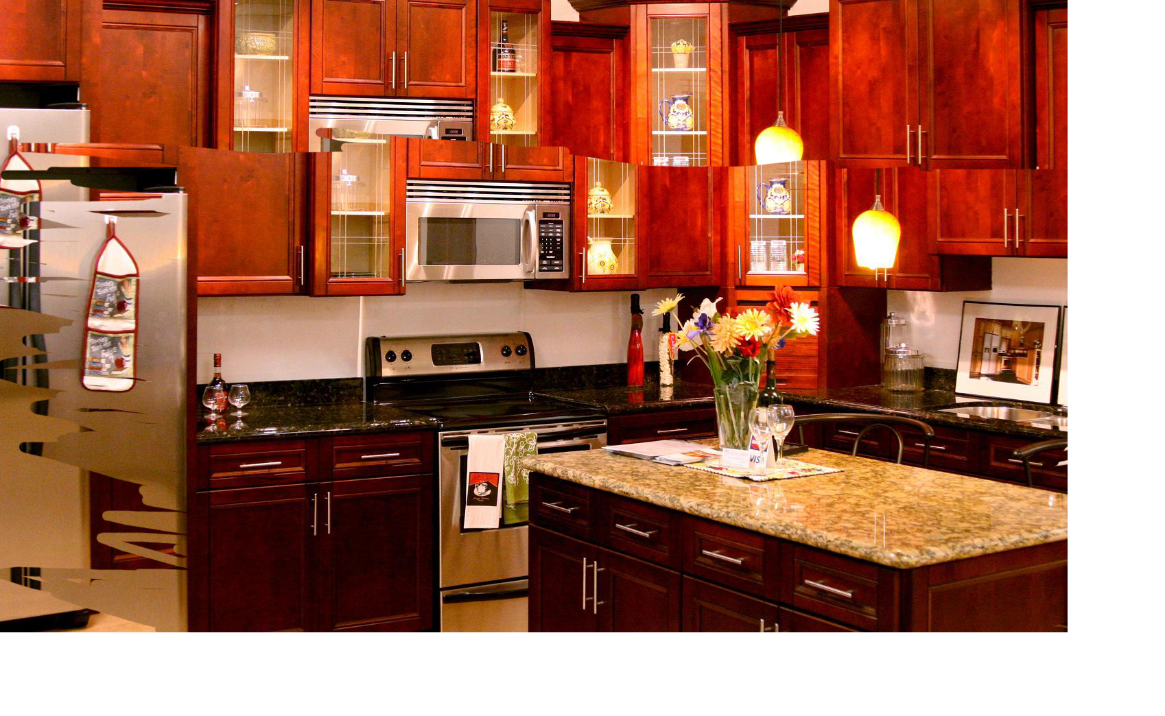 cherry kitchen cabinets cabinet refacing tampa image and bathroom design center