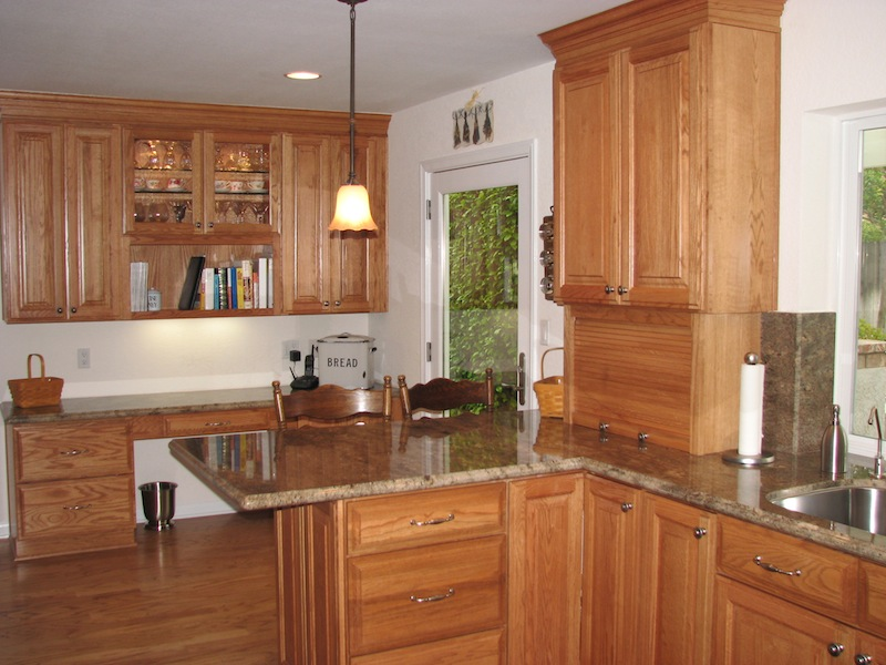 oak cabinet kitchen fridge image bathroom design center sawn cabinets seville light solid wood cabine