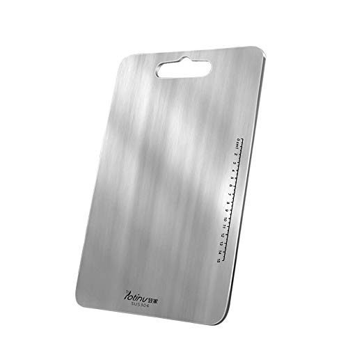 Potinv Stainless Steel Cutting Boards for Kitchen Chopping Board Non-Slip Easy Grip Dishwasher and Oven Safe