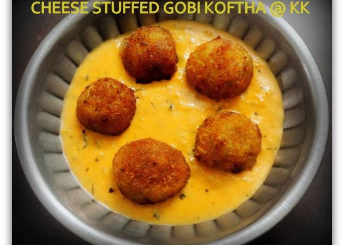cheese stuffed gobi koftha