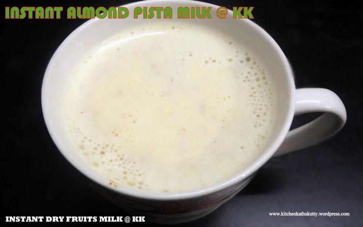 Instant dry fruit milk