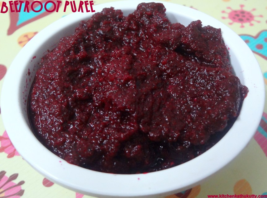 BEET ROOT PUREE FOR BABIES