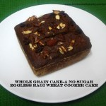 whole grain eggless cooker cake