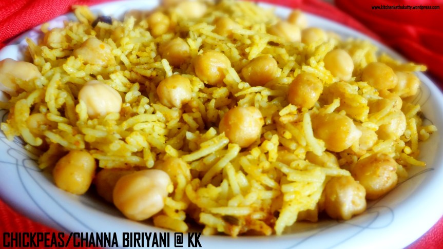 Channa/Chickpeas Biriyani