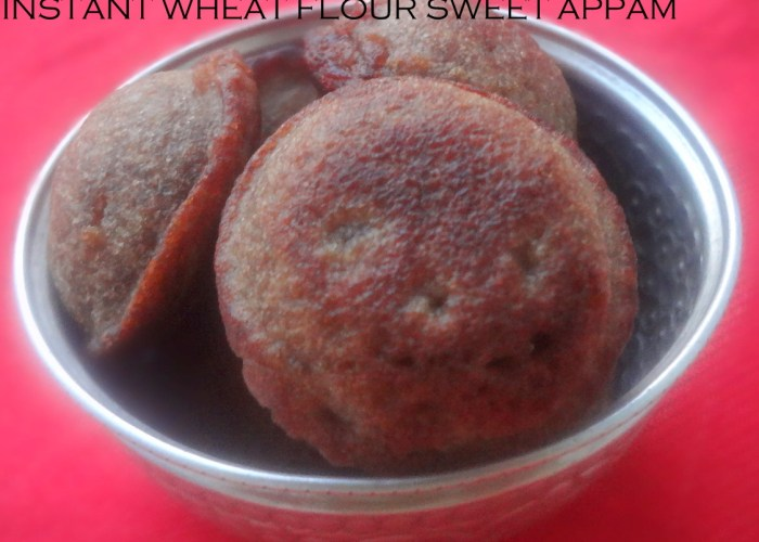 Instant Wheat Appam