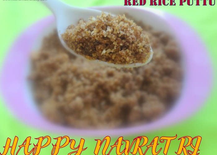 red rice puttu