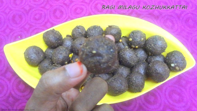 Finger Millet Pepper balls