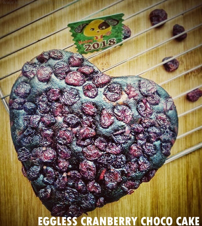 Eggless Cranberry Choco Beet Cake