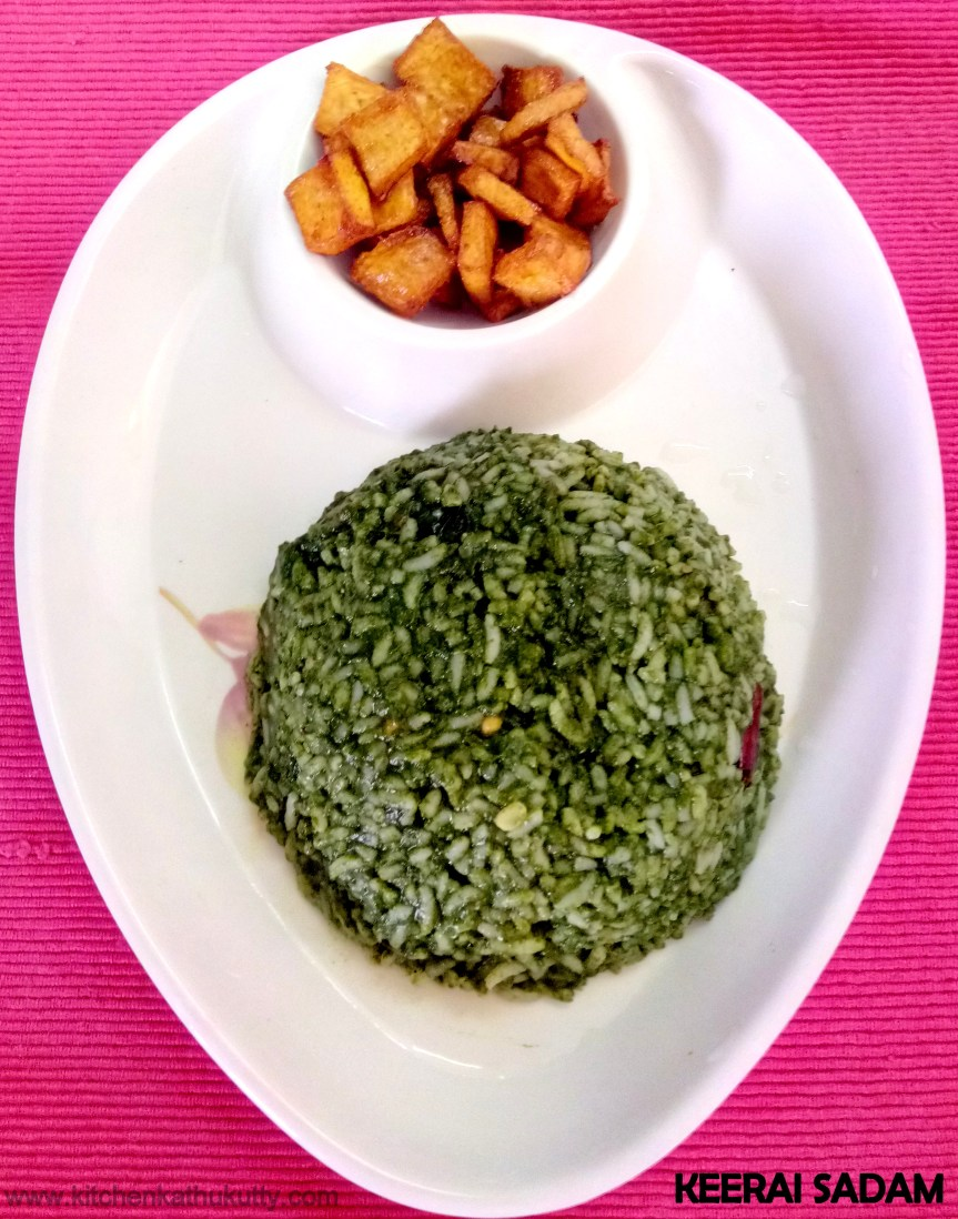Keerai Sadam For Babies & Toddlers|Spinach Rice