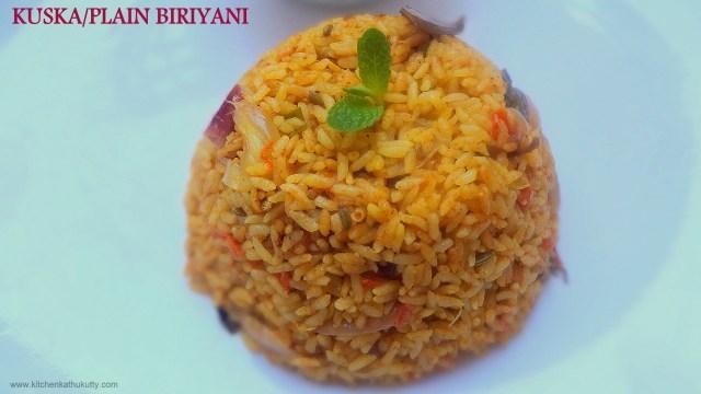 Kuska or Plain Biriyani
