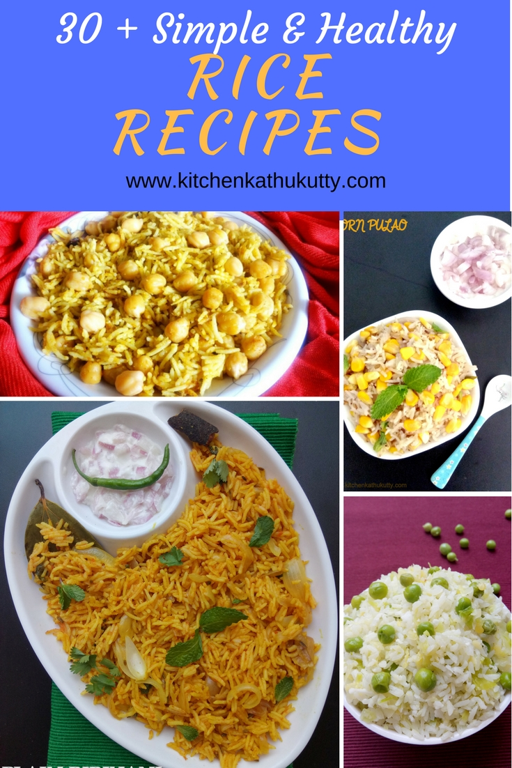 Rice recipes for Lunch Box