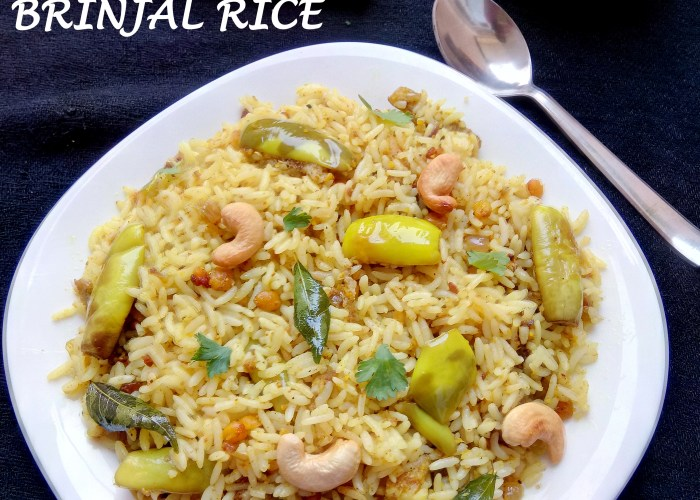 Vaangi Bath|Brinjal Rice