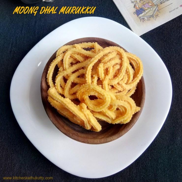 Moong Dal Murukku Recipe|Paasi Paruppu Murukku Recipe