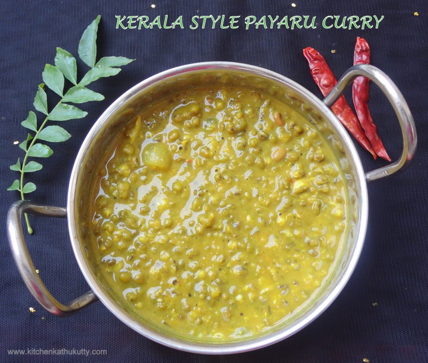 Kerala Style Payaru Curry|Green Gram Curry|Cherupayaru Curry