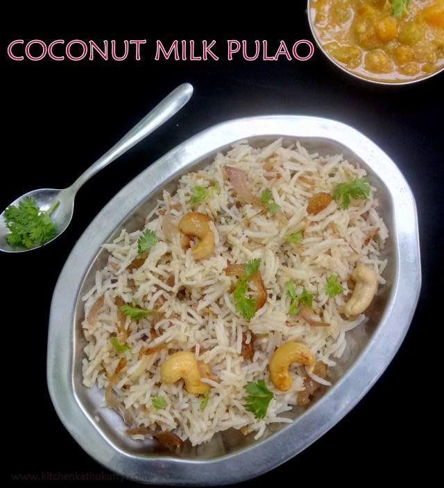 coconut milk pulao recipe