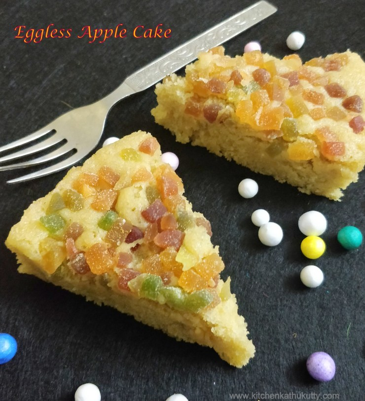 eggless apple sauce cake for toddlers and kids
