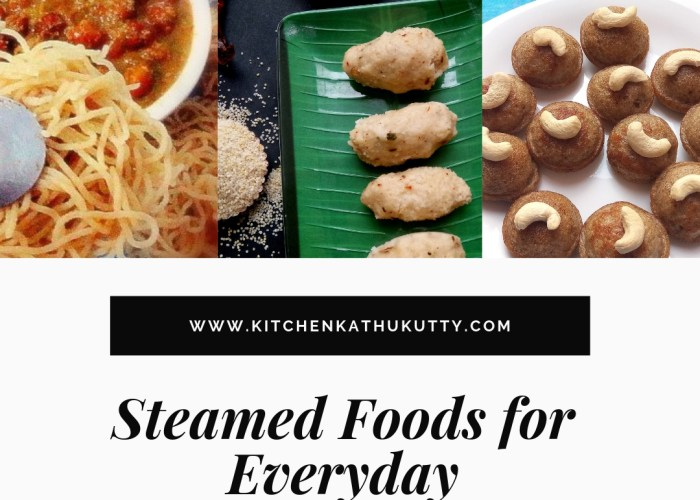 Healthy Steamed Food Recipes