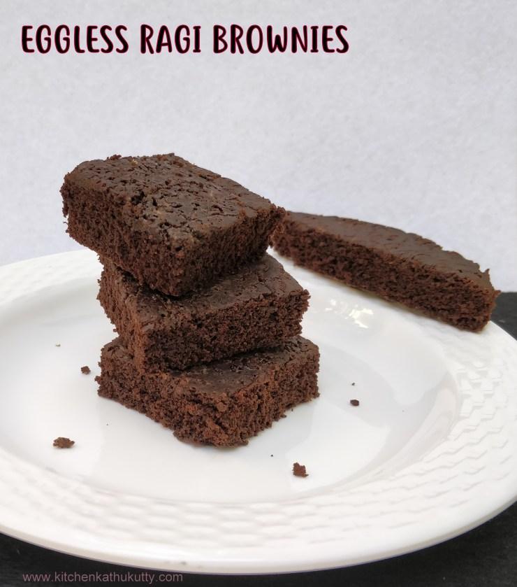 eggless ragi brownies