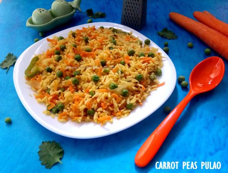 carrot peas pulao recipe