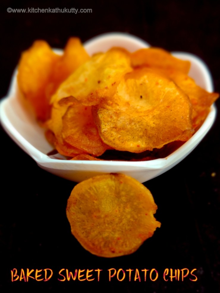 baked sweet potato chipss
