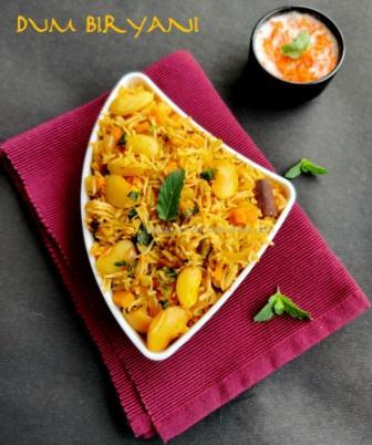 vegetable dum biryani recipe