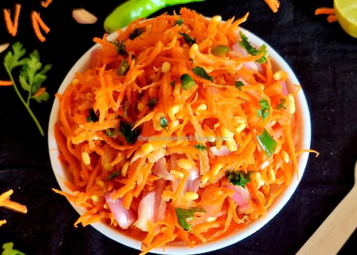 Carrot Kosambari Salad