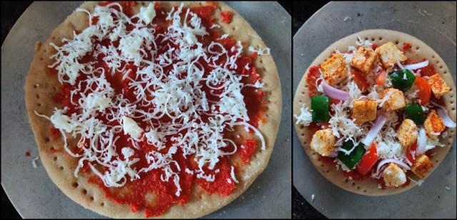 Homemade paneer Pizza