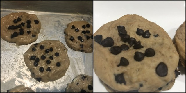 whole wheat choco chip cookies