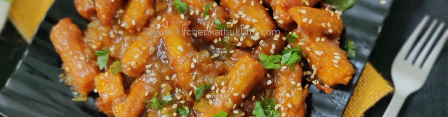 Honey Chilly baby Corn recipe