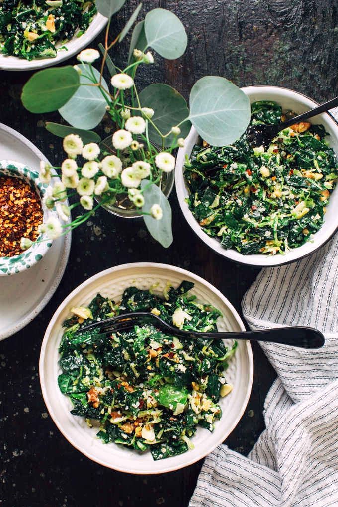 Shredded Kale and Brussels Sprout Salad Recipe  Kitchen