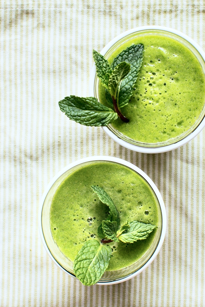 Mint And Green Tea Smoothie Recipe Kitchen Konfidence