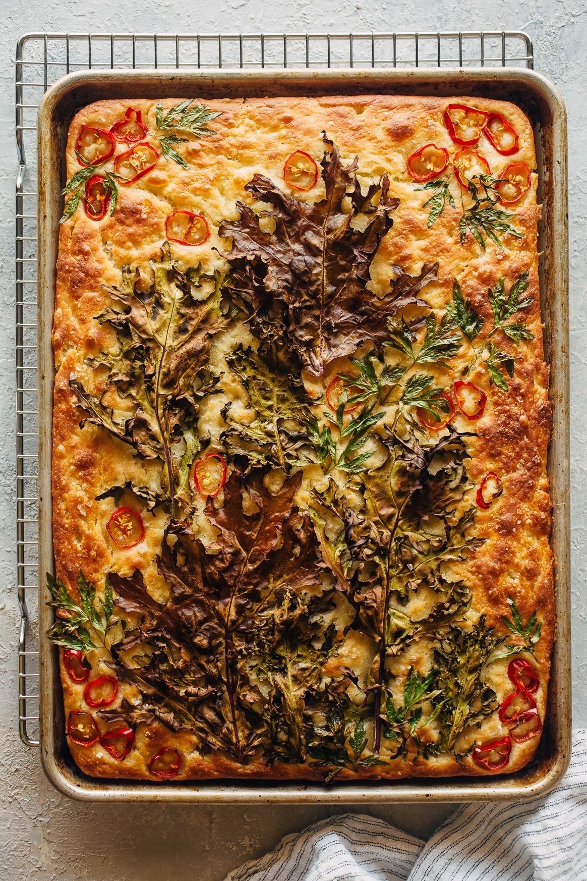 Garden Focaccia Recipe Kitchen Konfidence