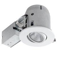Globe Electric 90480 4 inch Recessed Lighting Kit, Swivel, White Finish, Flood Light