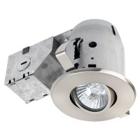 Globe Electric 90680 3 inch Recessed Lighting Kit, Swivel, Brushed Nickel Finish, Spot Light