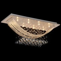 Ella Fashion Elegant Crystal Modern Chandeliers Pendant Ceiling Light Fixture Flush Mount Lighting Fit for Kitchen Dining Living Study Room Bathroom Foyer Entry