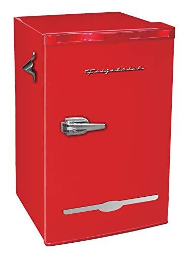 Frigidaire Retro Bar Fridge Refrigerator with Side Bottle Opener 32 cu ft Red
