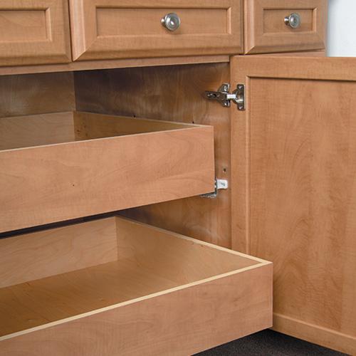 kitchen cabinet with trash bin best outdoor kitchens storage solutions