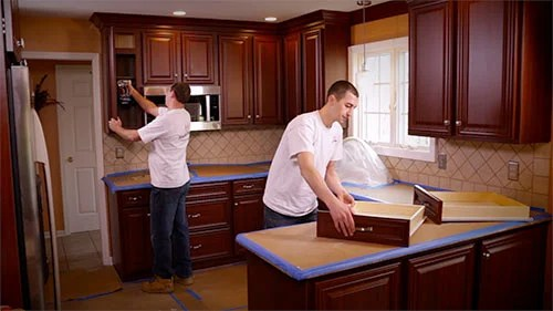 www.kitchen cabinets build your own outdoor kitchen cabinet refacing resurfacing step 4
