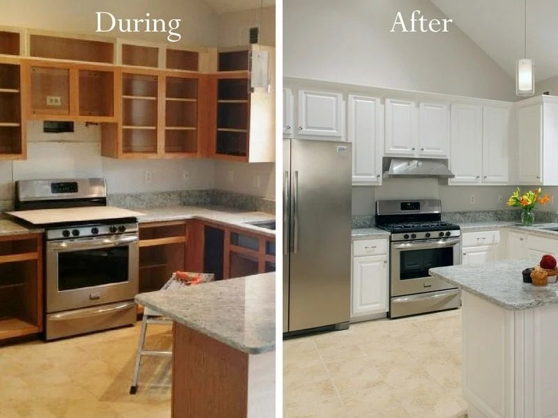 kitchen resurfacing outdoor cabinets kits cabinet refacing afraid you re not a candidate for because want taller no problem we can reface your and increase the height