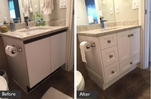 Bathroom Vanity Transformation