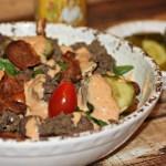 Bacon Cheeseburger  Spinach Salad