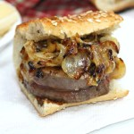 Filet Mignon Steak Sandwich With Caramelized Onions