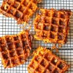 Sweet Potato Bacon Waffles