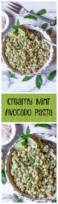 creamy mint avocado pasta
