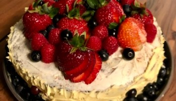 Best Two Egg Cake With Icing