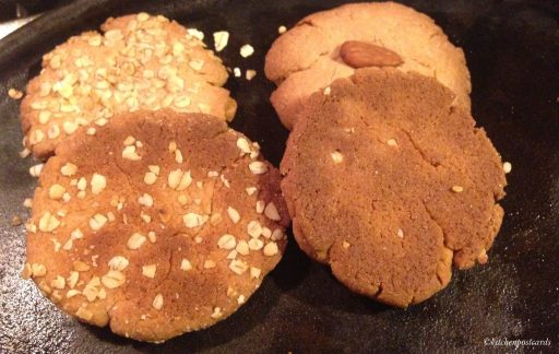 Underside of baked whole wheat biscuits.