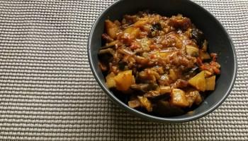 How to make Aloo Baingan in instant Pot